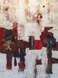 Abstracte het Schilderen Kunst: Slagen met Verschillende Kleurenpatronen als Rood, Grijs en Wit royalty-vrije stock foto's