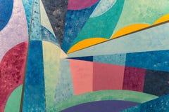 Abstracte het Schilderen Kunst - Slagen met Verschillende Kleurenpatronen zoals Rood Blauw, Geel, Oranje, Groen, stock fotografie