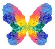 Abstracte het schilderen vlinder Royalty-vrije Stock Foto's