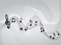 Abstracte het themaachtergrond van de muziekmuziek Royalty-vrije Stock Afbeelding
