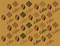 De abstracte achtergrond van het koffiepatroon Stock Afbeeldingen