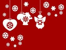 Abstracte het themaachtergrond van Kerstmis Stock Afbeelding