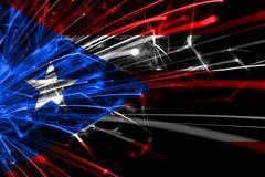 Abstracte het vuurwerk fonkelende vlag van Puerto Rico Nieuwjaar, Kerstmis en Nationaal dagconcept stock illustratie