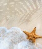 Abstracte het zandachtergrond van het de zomerstrand Royalty-vrije Stock Afbeeldingen