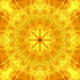 Abstracte hete bloemmandala van vlamuitbarsting Stock Afbeelding