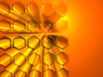 Abstracte hexagon achtergrond Stock Afbeeldingen