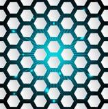 Abstracte hexagon achtergrond met 3d en het barsten effect royalty-vrije illustratie