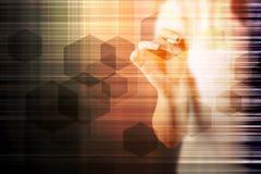 Abstracte hexagon moleculeachtergrond, wetenschappelijk concept Royalty-vrije Stock Foto