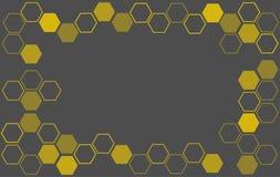 Abstracte hexagon van de Bijenbijenkorf vector als achtergrond Stock Foto's
