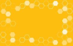 Abstracte hexagon van de Bijenbijenkorf vector als achtergrond Stock Foto