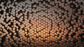 Abstracte Hexagonale Achtergrond, Naadloze het Van een lus voorzien 3d Animatie, 4K zoek meer opties in mijn portefeuille vector illustratie