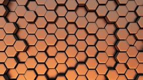 Abstracte Hexagonale Achtergrond, Naadloze het Van een lus voorzien 3d Animatie, 4K zoek meer opties in mijn portefeuille royalty-vrije illustratie