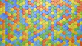 Abstracte hexagonale multicolored achtergrond, naadloze het van een lus voorzien 3d animatie, 4k zoek meer opties in mijn portefe royalty-vrije illustratie