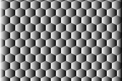 Abstracte hexahedronachtergrond Stock Foto