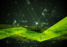 Abstracte hi-tech vectorillustratie Stock Afbeeldingen