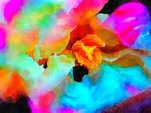 Abstracte hibiscus op papier Stock Afbeelding