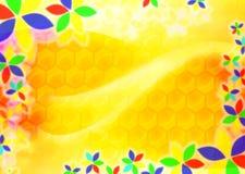 Abstracte honingsachtergrond Stock Foto