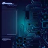 Abstracte hoogte - de achtergrond van de technologiehardware