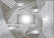 Abstracte hoogte - technologie achtergrondvector. Stock Afbeeldingen