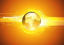 Abstracte hoogte - technologieAchtergrond Stock Afbeelding