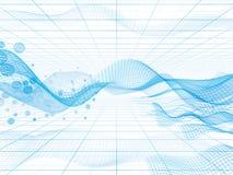 Abstracte hoogte - technologieachtergrond royalty-vrije illustratie