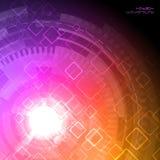 Abstracte hoogte - technologieachtergrond Vector illustratie Stock Afbeelding