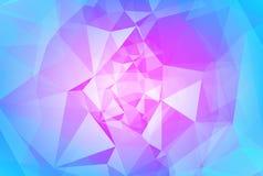 Abstracte horizontale driehoeksachtergrond Stock Afbeelding
