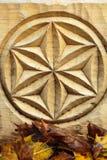 Abstracte houten bloem Royalty-vrije Stock Foto