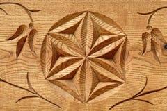 Abstracte houten bloem Stock Foto's