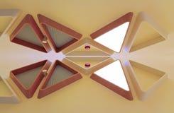 Abstracte houten lichte inrichting Royalty-vrije Stock Foto