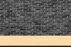 Abstracte houten lijsttextuur op bakstenen muurachtergrond stock afbeeldingen