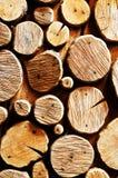 Abstracte houten logboekachtergrond Royalty-vrije Stock Afbeeldingen