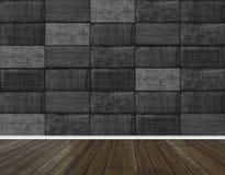 Abstracte houten vloertextuur en muur van betontegelsachtergrond stock foto