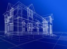 abstracte huisbouw Stock Afbeeldingen