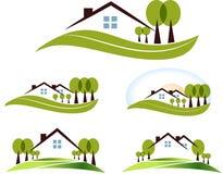 Abstracte huispictogrammen