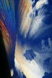 Abstracte ijskristallen royalty-vrije stock afbeeldingen