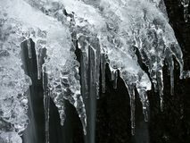 abstracte ijsvorm in de winter stock afbeelding