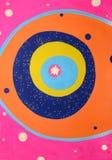 Abstracte illustratie met cirkelvormen en levendige kleuren Stock Foto's