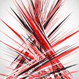 Abstracte illustratie met dynamische grungy lijnen Geweven rode pa vector illustratie
