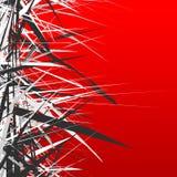 Abstracte illustratie met dynamische grungy lijnen Geweven rode pa stock illustratie