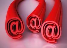 Abstracte Illustratie met e-mailTekens Stock Afbeeldingen