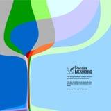 Abstracte illustratie met het glas van de silhouetwijn. Stock Afbeelding