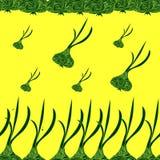 Abstracte illustratie met knoflook Stock Afbeeldingen