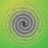 Abstracte illustratie met spiraalvormig motief Abstracte werveling, draai stock illustratie