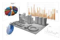 Abstracte illustratie met verschillende grafieken Royalty-vrije Stock Foto