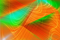 Abstracte illustratie in oranje en groen licht stock illustratie