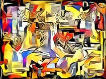 Abstracte illustratie in stijl van avantgarde Royalty-vrije Stock Fotografie