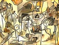 Abstracte illustratie in stijl van avantgarde Royalty-vrije Stock Afbeelding