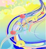 Abstracte illustratie van bloemrivier stock illustratie