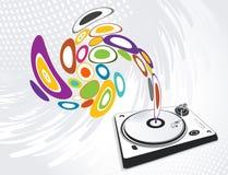 Abstracte illustratie van een DJ-mixer, vector stock illustratie